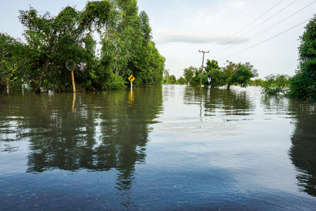 Floods of storms cause floods in rural and urban areas.