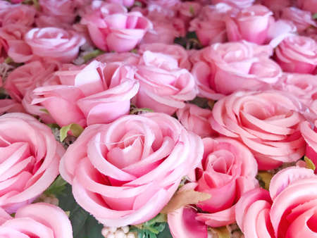 Photo for Photos from artificial roses used for making backgrounds - Royalty Free Image
