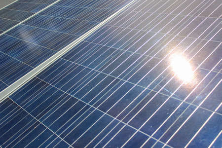 Photo for Solar cells are good energy for the environment. - Royalty Free Image