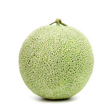 Foto de green cantaloupe melon isolated on white background - Imagen libre de derechos