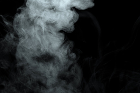 Photo for Abstract powder or smoke effect isolated on black background,Out of focus - Royalty Free Image