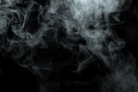Photo for Abstract powder or smoke effect isolated on black background - Royalty Free Image