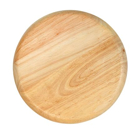 Photo pour Wooden plate isolated on white background ,include clipping path - image libre de droit