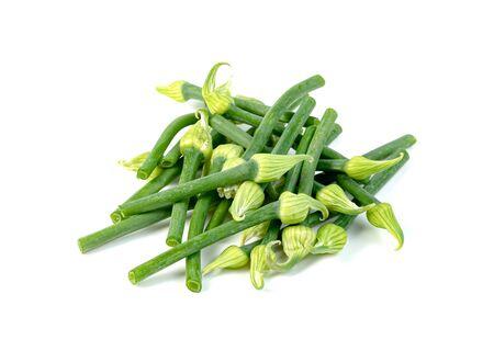 Photo pour Scallion Flower or Allium cepa or Onion Flower Stem isolated on white background - image libre de droit