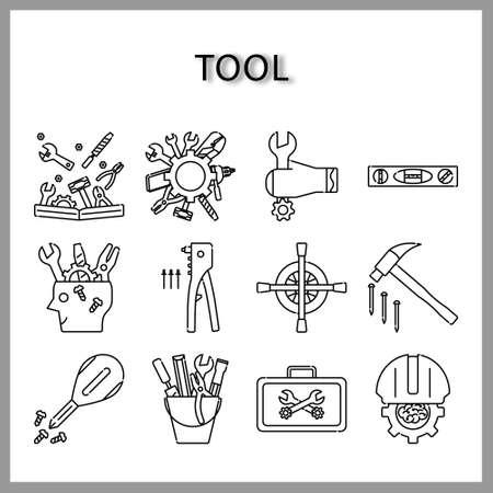 Illustration pour tool icon set isolated on white background for web design - image libre de droit