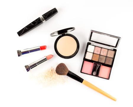 Photo pour Cosmetics set on white background. - image libre de droit