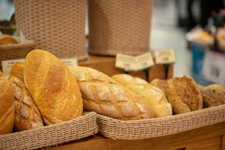 Photo for Variety of fresh bread in a supermarket. - Royalty Free Image