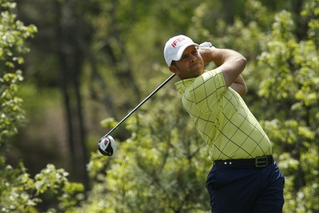 April 27, 2012-South Korea, Icheon: Scott Barr of Australia in action during the second round of the Blackstone Golf Club at Ballantine's Championship.