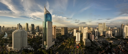 Jakarta City Panoramic in high detail