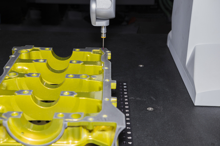 aluminum machined parts inspected dimension by CMM