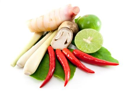 Photo pour group of Tomyum(Thai food) seasoning ingredients - image libre de droit