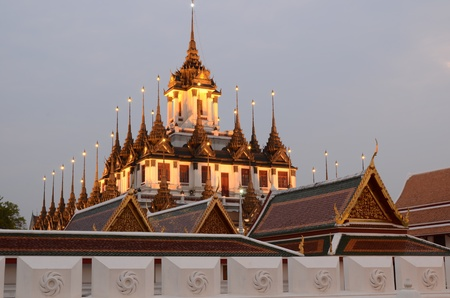 To measure metal temple or castle grandson, Bangkok, Thailand.