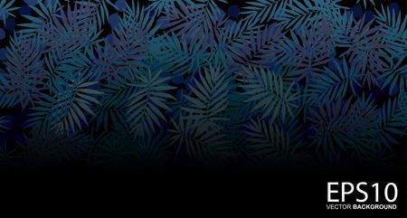 Illustration pour Tropical blue leaf pattern background. - image libre de droit