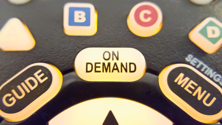 Photo pour On demand button glowing - image libre de droit