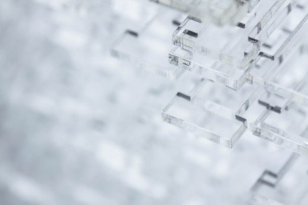 Foto de Abstract high-tech background. Details of transparent plastic or glass. - Imagen libre de derechos