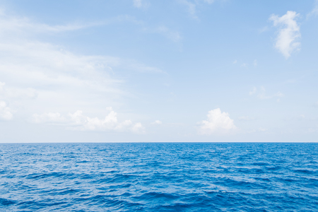 Photo for Calm Sea and Blue Sky Background in Maldives - Royalty Free Image