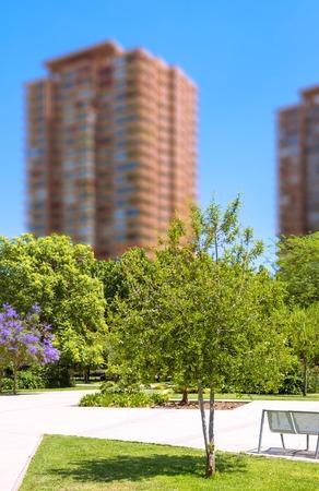 Public area in Las Condes commune in Santiago, Chile