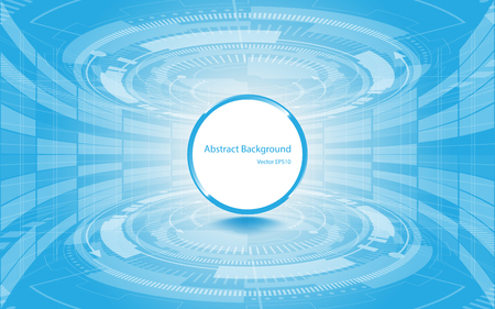 Illustration pour Abstract technology background Hi-tech communication concept innovation background vector illustration - image libre de droit