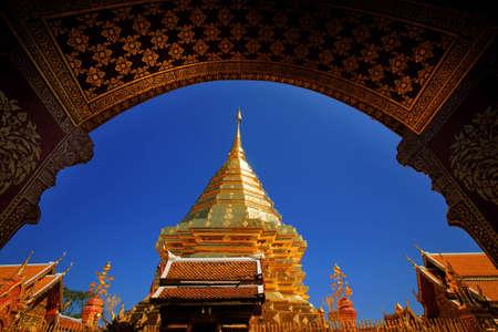 Wat Phrathat Doi Suthep, golden umbrella, Chatthong, Stupa Pagoda (Golden Chedi).
