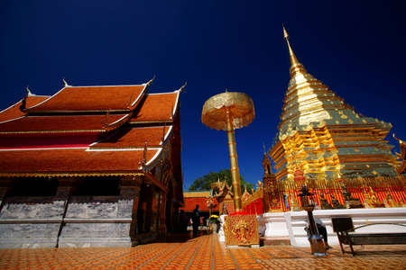 Stup Pagoda,Golden Chedi. Wat Phrathat Doi Suthep