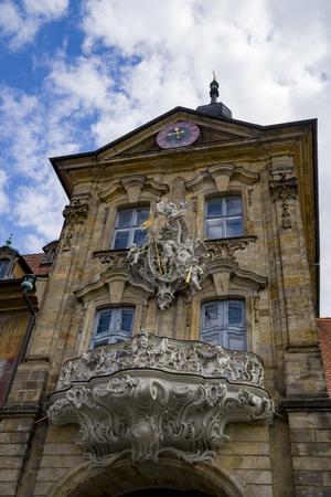 Landmark of Bamberg Upper bridge and Old Town Hall townhall, Germany, Bavaria