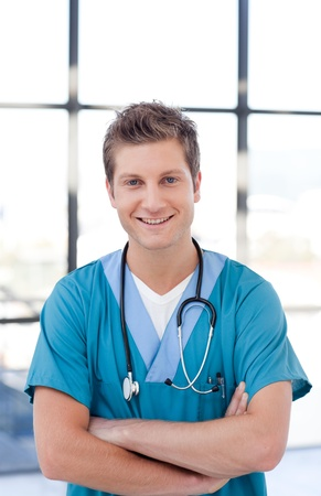 Attractive male nurse