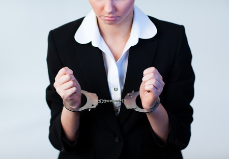 Photo for Business Woman in Handcuffs - Royalty Free Image