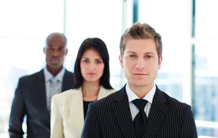 Junior businessman leading his team