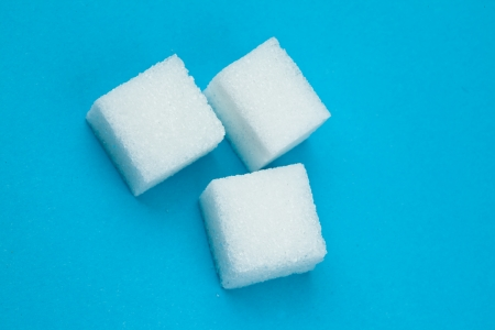 Sugars against a blue background