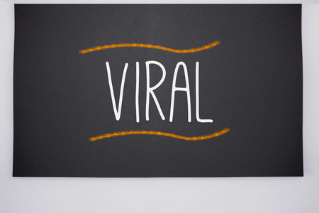 The word viral written on big blackboard