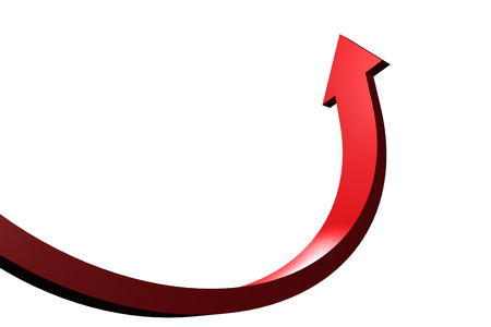 Red curved arrow pointing up