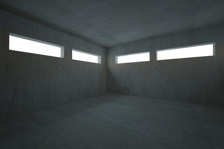 Dark grey room