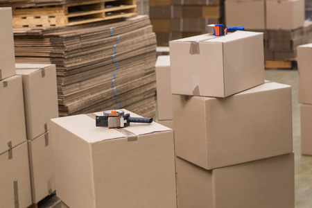 Preparation of goods for dispatch in a large warehouse