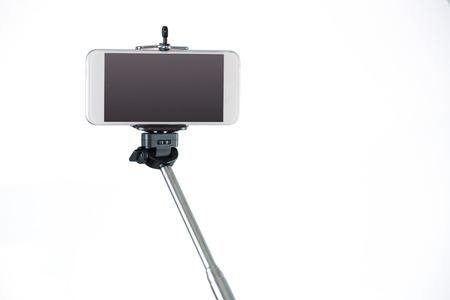 Smartphone on a selfie stick shot in studio