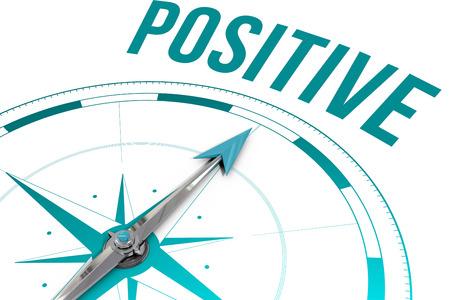 Photo pour The word positive  against compass - image libre de droit
