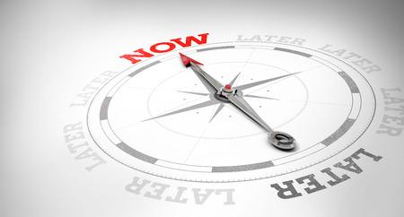 Photo pour Compass against now and later - image libre de droit