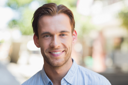 Photo for Portrait of a handsome smiling man looking at the camera - Royalty Free Image