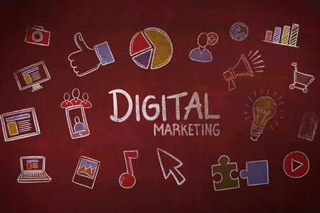 digital marketing against desk