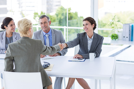 Photo for Interview panel listening to applicant in the office - Royalty Free Image