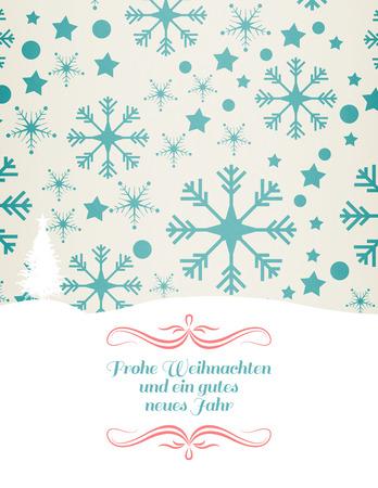 border against snowflake pattern