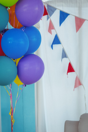 Close up of party balloons at the birthday party