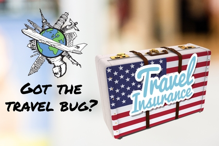 composite of travel insurance graphics