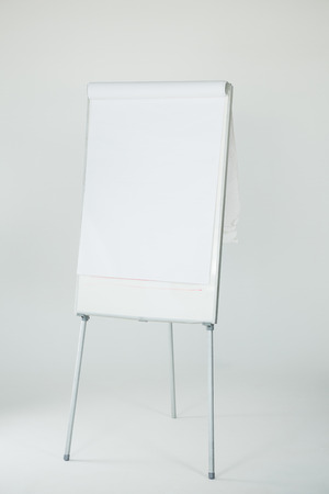 Blank flip chart on white background