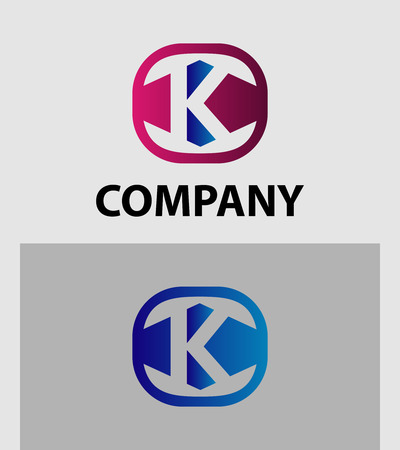 Letter K Logo Icon Design Element template