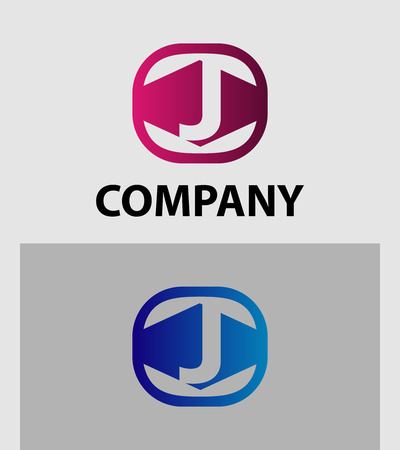 Letter J Logo Icon Design Element template
