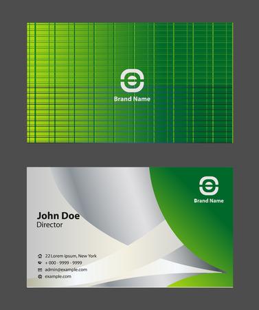 Modern business card templates simple light