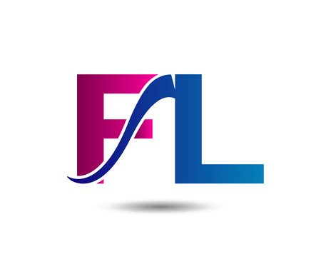 Letter F and L vector