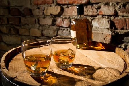 Whisky and glasses