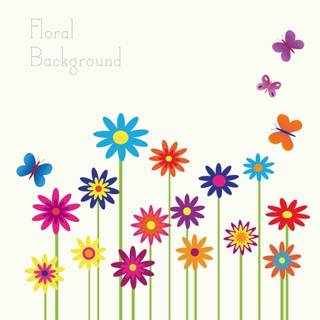 colorful floral background with space for your text