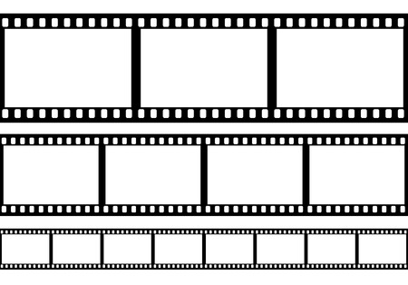 Set of film frame illustration